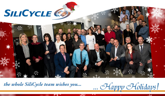 Hugo St-Laurent and the whole SiliCycle team wish you Happy Holidays!
