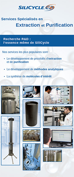 Benefiq 2016 exhibition: SiliCycle R&D services for health and food industries: extraction and purification processes development; analytical methods development and synthesis of molecules of interest