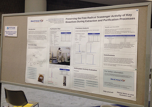 SiliCycle's Pittcon Poster: Preserving the Free-Radical Scavenger Activity of Key Bioactives During Extraction and Purification Processes