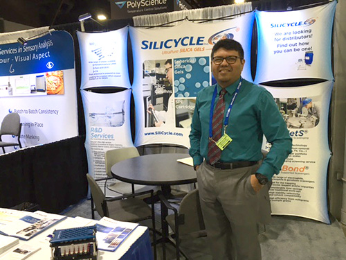 SiliCycle's booth at Pittcon 2016