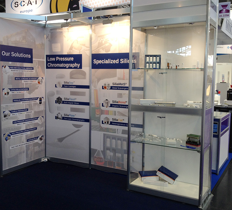 Analytica 2016 - SiliCycle booth: products and sample display