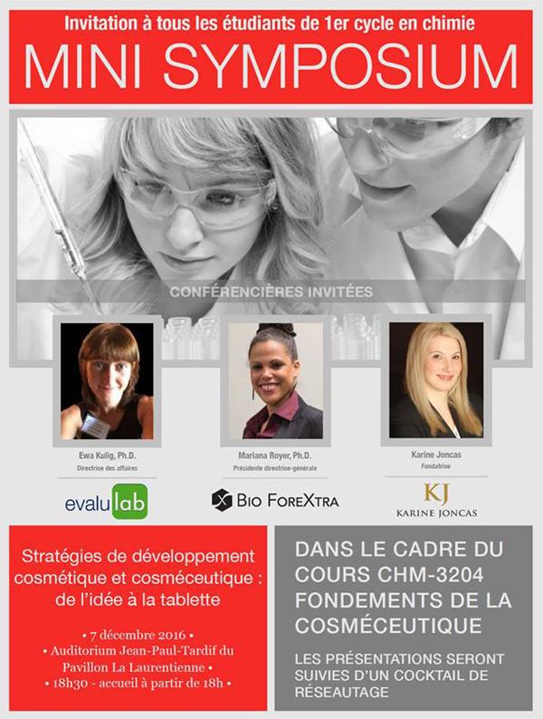 Rencontrez SiliCycle au 2e Mini-Symposium de Chimie Cosméceutique, à l'Université Laval