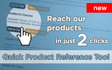Quick Product Reference Tool: reach our products in 2 clicks!