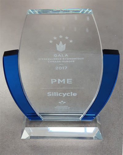 The SME Award of the Canada-Europe Economic Excellence Gala